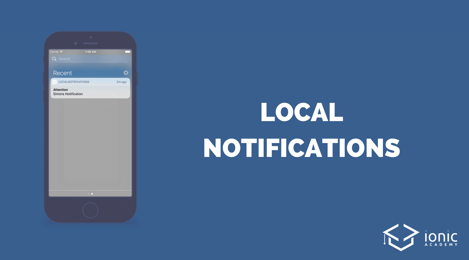 Ionic Local Notifications (Schedule, Payload and Callback