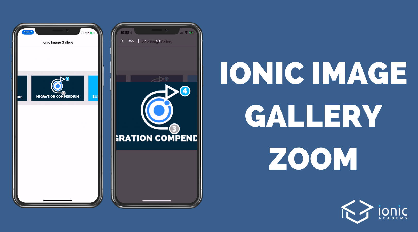 How to Create an Ionic 4 Image Gallery with Zoom [v4