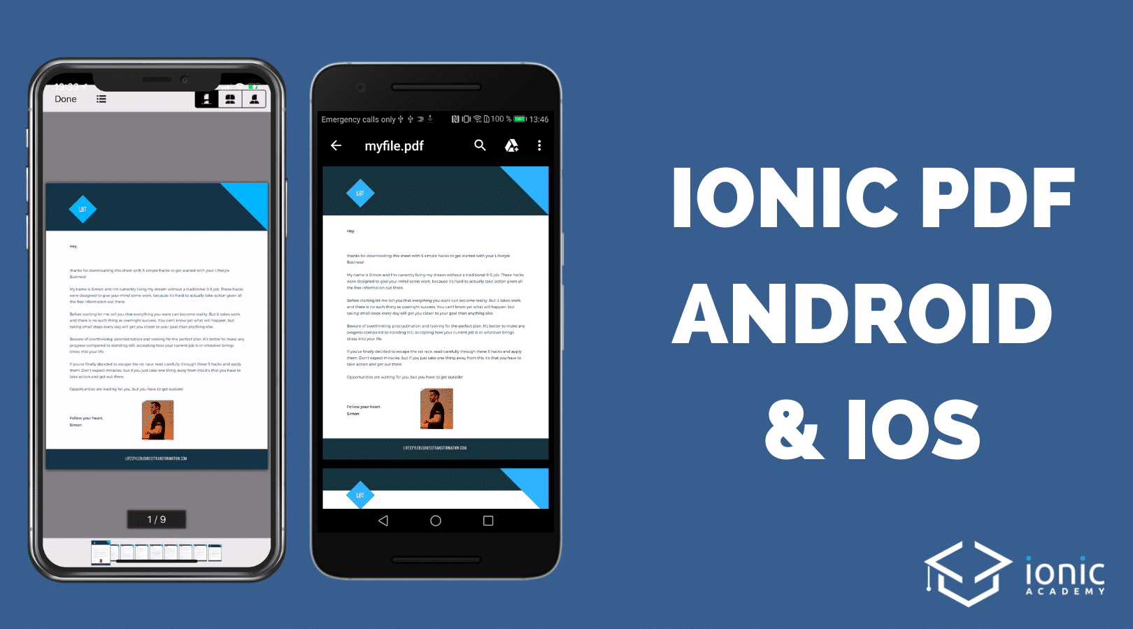 How to Open PDF Files with Ionic 4 on Android and iOS